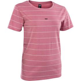 ION Stripes SS Tee Women, rosa